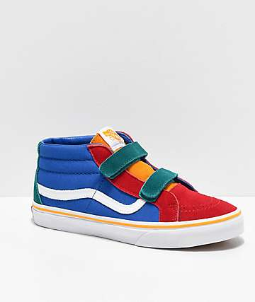 Vans Sk8-Mid Reissue V Primary Block Skate Shoes