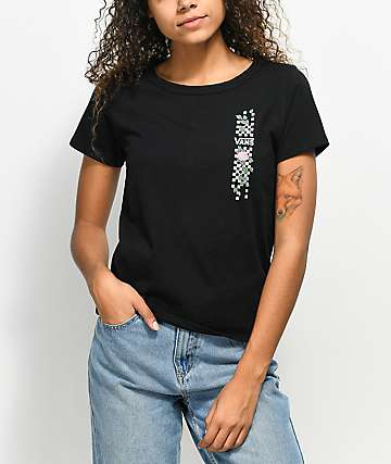 Vans Skimmer Pink Rose Black T-Shirt