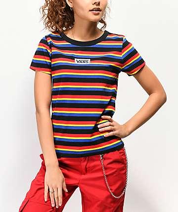 Vans Skimmer camiseta de rayas multicolor