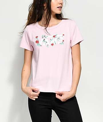 Vans Skimmer camiseta rosa floral