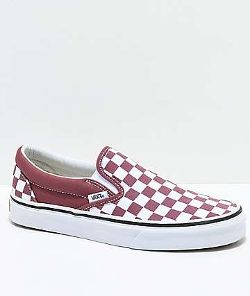 vans slip on dusty rose