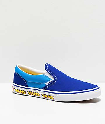 Vans Slip-On Arcade Blue Skate Shoes