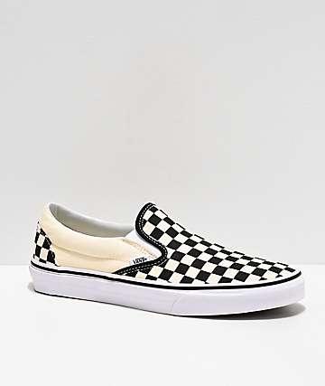 21d7f58fb1ae Vans Slip-On Black   White Checkered Skate Shoes