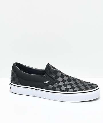 Vans Slip-On Black Checkered Skate Shoes