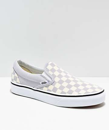 e8a2ecf11288 Vans Slip On Checkerboard Grey, Dawn & White Shoes