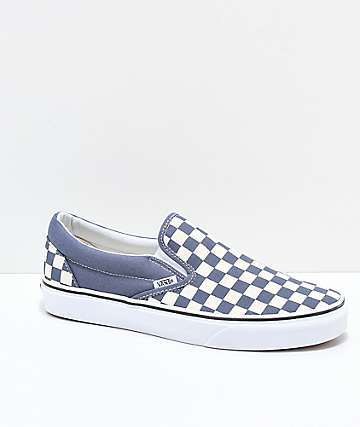 Vans Slip On Checkerboard Grisaille & White Shoes