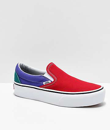 Vans Slip-On Colorblock Platform Shoes