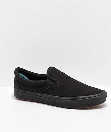 Vans Slip-On Comfy Cush Black Skate Shoes