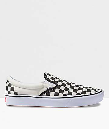 Vans Slip-On ComfyCush Black & White Checkerboard Skate Shoes