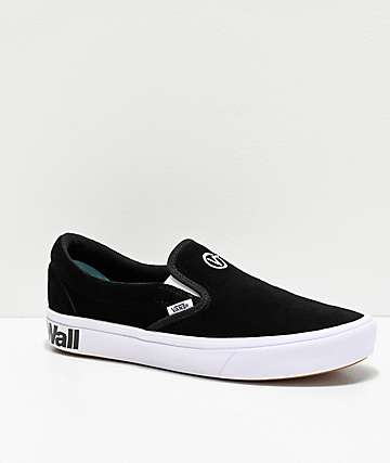 Vans Slip-On ComfyCush Black & White Skate Shoes