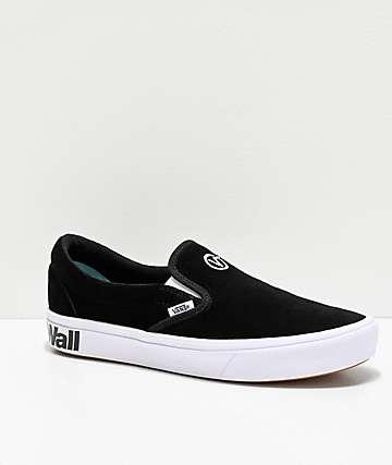 Vans Slip-On ComfyCush Black & White Skate Shoes