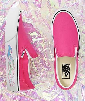 a5d22cdb2 Vans Slip-On Flame Pink Platform Shoes