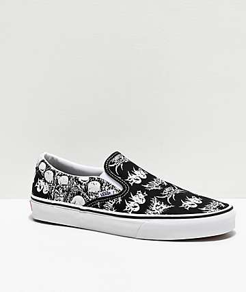 Vans Slip-On Forgotten Bones Black & White Skate Shoes