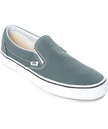 Vans Slip-On Goblin Blue-Grey & White Skate Shoes