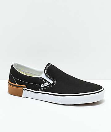 Vans Slip-On Gum Block Black Skate Shoes