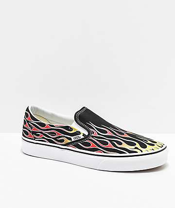 e6658033f0 Vans Slip-On Mash Up Flame Skate Shoes
