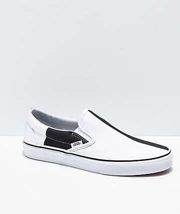 Vans Slip-On Mega zapatos de skate de cuadros negros y blancos