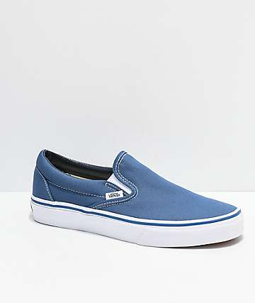 Vans Slip-On Navy Skate Shoes