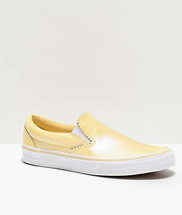 Vans Slip-On Pearl Suede Gold Skate Shoes