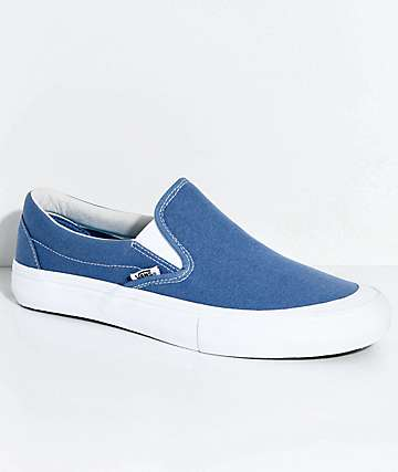 Vans Slip-On Pro Allen Navy & White Skate Shoes