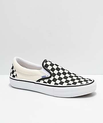 Vans Slip-On Pro Black & White Checkerboard Skate Shoes
