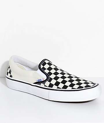 Vans Slip-On Pro Black & White Checkered Skate Shoes
