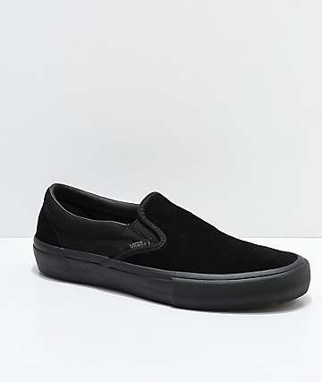 Vans Slip-On Pro Blackout Skate Shoes
