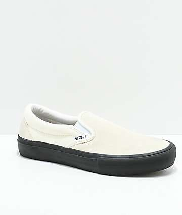 Vans Slip-On Pro Classic White & Black Skate Shoes