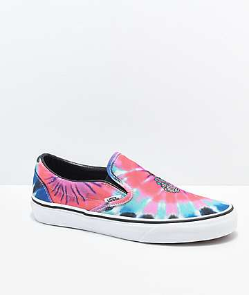 Vans Slip On Tie Die Skate Shoes