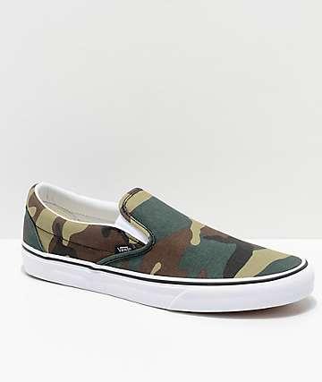 Vans Slip-On Woodland zapatos de skate de camuflaje