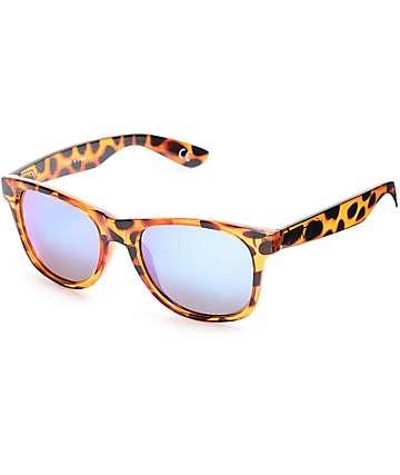 Vans Spicoli Honey Tortoise & Blue Mirror Sunglasses