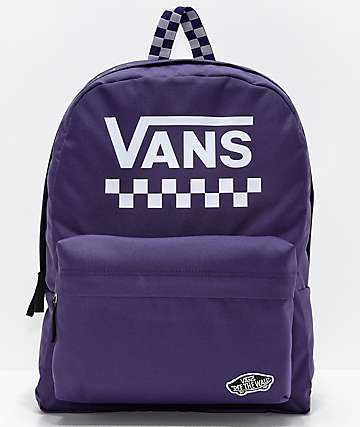 Vans Sporty Realm Purple Checkerboard Backpack