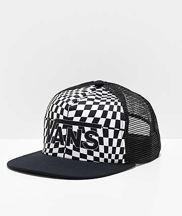 Vans Spring Break Black Warp Check Snapback Hat