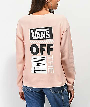 Vans Stand Down Rose Cloud Thermal Long Sleeve T-Shirt