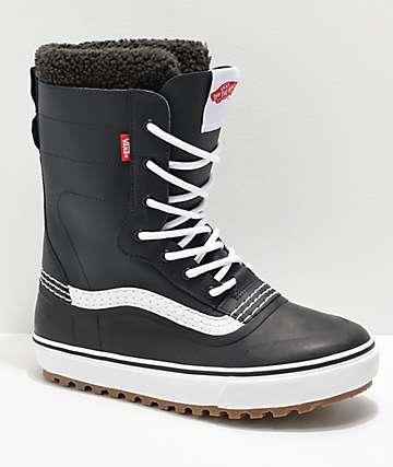 Vans Standard botas de nieve en negro y blanco