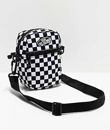 Vans Street Ready Black & White Checkerboard Crossbody Bag