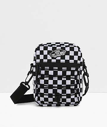 Vans Street Ready II Black & White Checkerboard Shoulder Bag