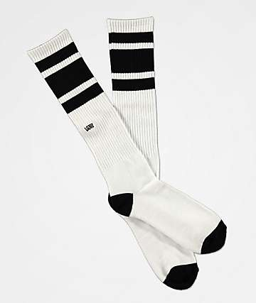Vans Stripe White and Black Knee-Hi Socks