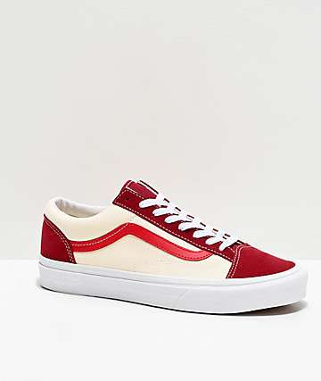 Vans Style 36 Retro Biking Red Skate Shoes