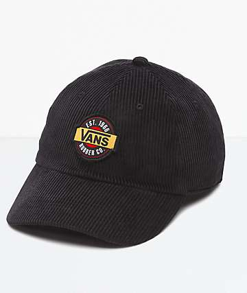 Vans Summit Court Side Black Corduroy Strapback Hat