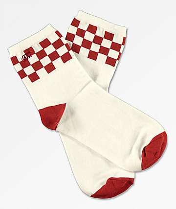 Vans Summit calcetines blancos y rojos