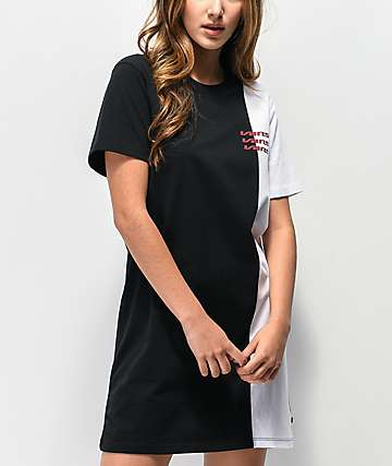 Vans Super Speedee Black & White T-Shirt Dress