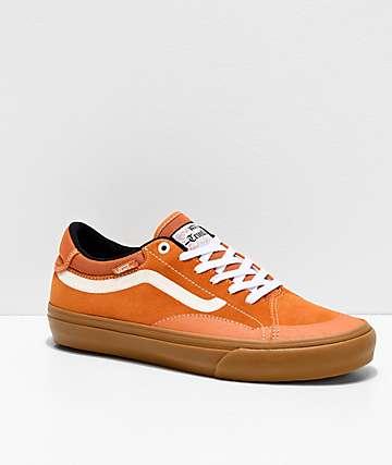 Vans TNT ADV Prototype Golden Oak, White & Gum Skate Shoes