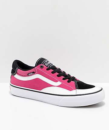 Vans TNT ADV Prototype Pink, Black & White Skate Shoes