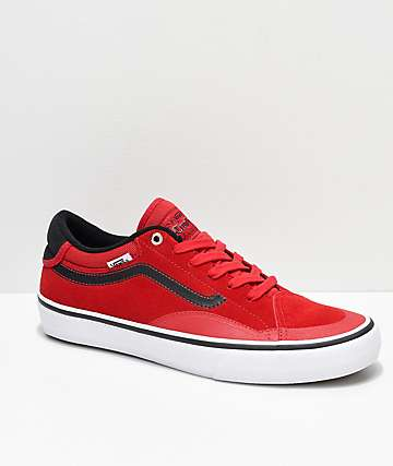 c96b025486 Vans TNT ADV Prototype Racing Red   White Skate Shoes