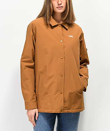Vans Thanks Sherpa Lined Brown MTE Coaches Jacket