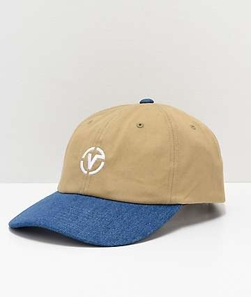 Vans Thayer Jockey Blue & Khaki Strapback Hat