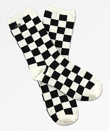Vans Ticker Black & White Checker Crew Socks