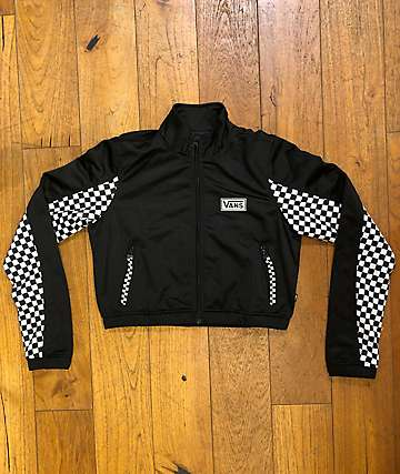 Vans Track Black & Checkered Crop Jacket