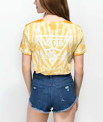 Vans Triangle Yellow Cloudwash Boyfriend T-Shirt
